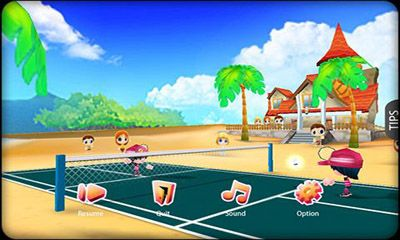 Screenshots of the 3D Badminton II for Android tablet, phone.
