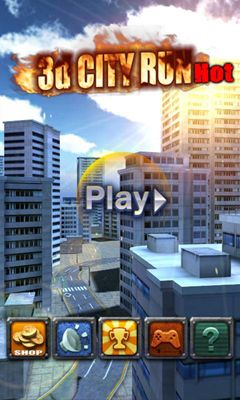 Screenshots of the 3D City Run Hot for Android tablet, phone.