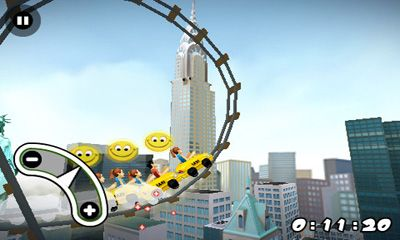Screenshots of the 3D Rollercoaster Rush. New York for Android tablet, phone.