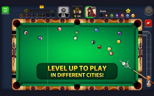 Screenshots of the 8 ball pool for Android tablet, phone.