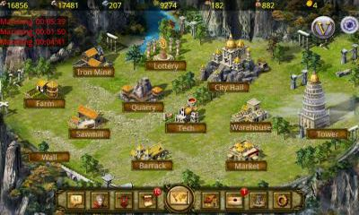Screenshots of the Age of Empire for Android tablet, phone.
