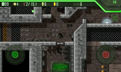 Screenshots of the Alien Breed for Android tablet, phone.