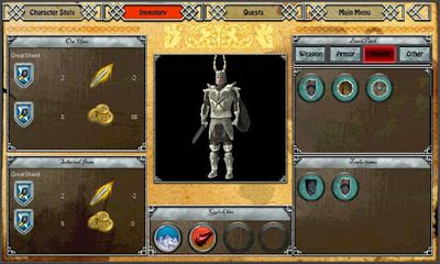 Screenshots of the Anargor for Android tablet, phone.