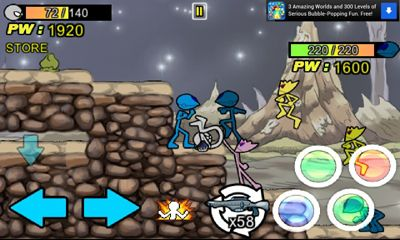 Screenshots of the Anger of Stick 3 for Android tablet, phone.