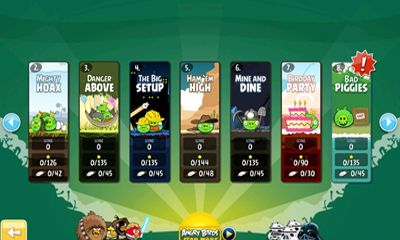 Screenshots of the Angry Birds for Android tablet, phone.
