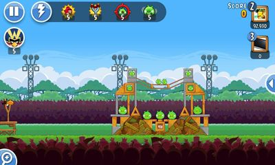 Screenshots of the Angry Birds Friends for Android tablet, phone.