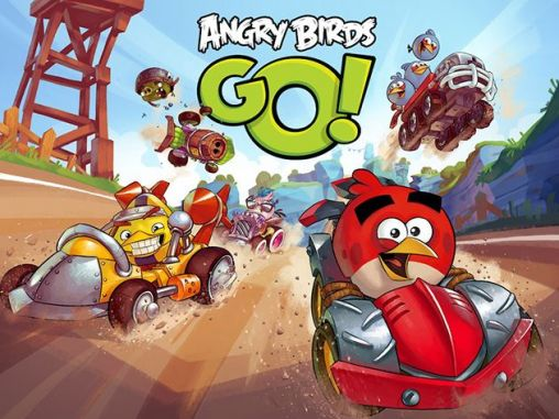 Screenshots of the Angry birds go! for Android tablet, phone.