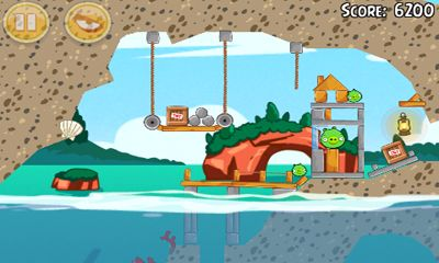 Screenshots of the Angry Birds Seasons Piglantis! for Android tablet, phone.