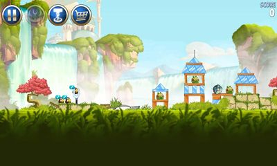 Screenshots of the Angry Birds Star Wars II for Android tablet, phone.
