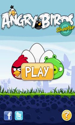 Screenshots of the Angry Birds Shooter for Android tablet, phone.