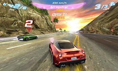 Screenshots of the Asphalt 6 Adrenaline HD for Android tablet, phone.