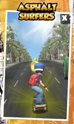 Screenshots of the Asphalt Surfers for Android tablet, phone.