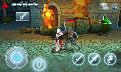 Screenshots of the Assassin's Creed for Android tablet, phone.