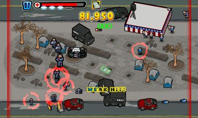 Screenshots of the Attack of the Wall St. Titan for Android tablet, phone.