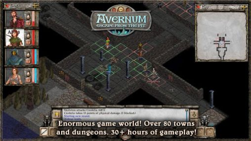 Screenshots of the Avernum: Escape from the pit for Android tablet, phone.