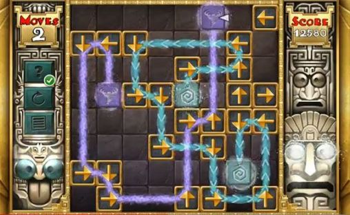Screenshots of the Aztec puzzle for Android tablet, phone.
