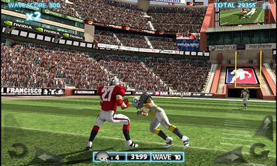 Screenshots of the Backbreaker 3D for Android tablet, phone.