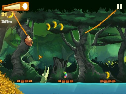 Screenshots of the Banana Kong for Android tablet, phone.