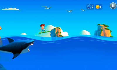 Screenshots of the Banzai Surfer for Android tablet, phone.