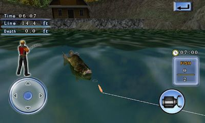 Screenshots of the Bass Fishing 3D on the Boat for Android tablet, phone.