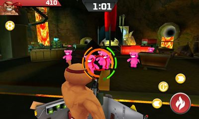 Screenshots of the Battle Bears Zero for Android tablet, phone.