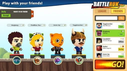 Screenshots of the Battle run: Season 2 for Android tablet, phone.