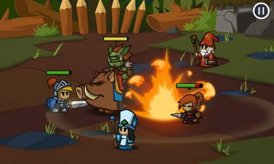 Screenshots of the Battleheart for Android tablet, phone.
