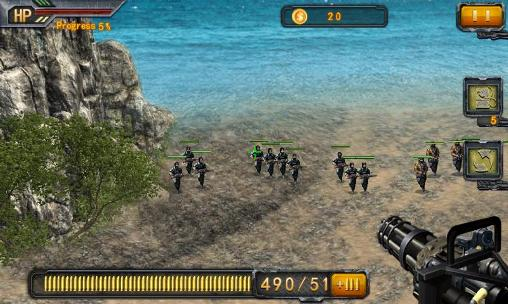 Screenshots of the Beach sniper for Android tablet, phone.