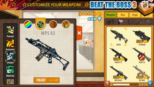 Screenshots of the Beat the boss 3 for Android tablet, phone.