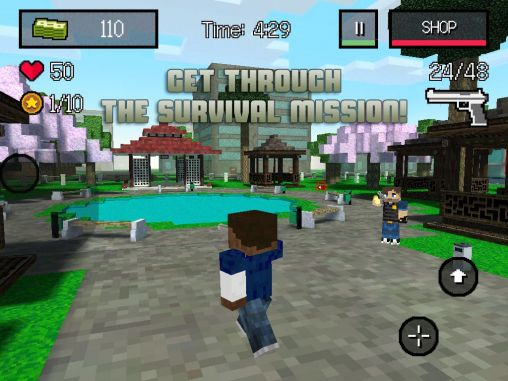 Screenshots of the Block City wars: Mine mini shooter for Android tablet, phone.