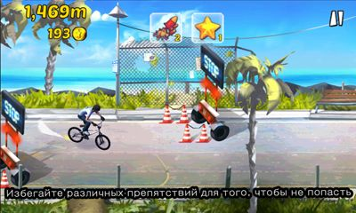 Screenshots of the BMX Ride n Run for Android tablet, phone.