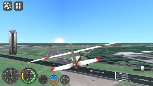of the Boeing flight simulator 2014 for Android tablet, phone