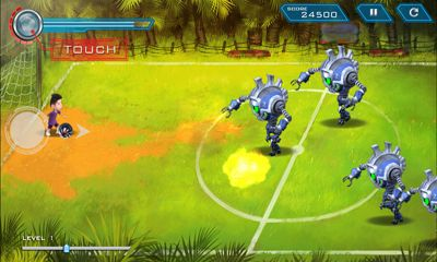 Screenshots of the Bola Kampung RoboKicks for Android tablet, phone.