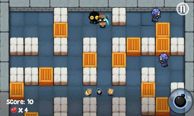 Screenshots of the Bomberman vs Zombies for Android tablet, phone.