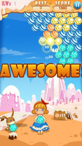 Screenshots of the Bubble candy for Android tablet, phone.