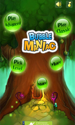 Screenshots of the Bubble Maniac for Android tablet, phone.