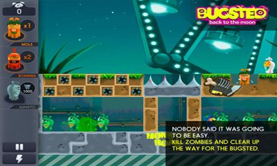 Screenshots of the Bugsted - Back to the Moon for Android tablet, phone.
