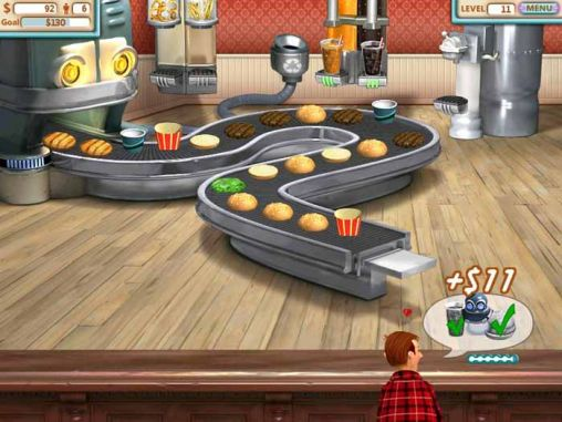 Screenshots of the Burger shop for Android tablet, phone.