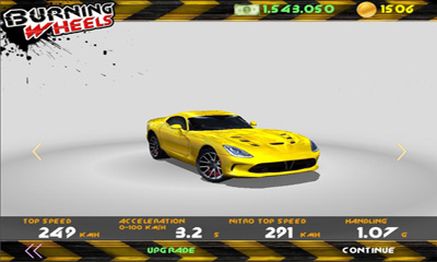 Screenshots of the Burning Wheels 3D Racing for Android tablet, phone.