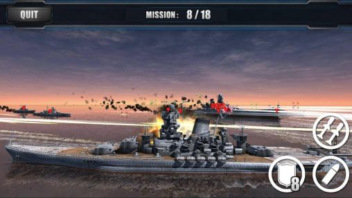 Screenshots of the Call of warships: World duty. Battleship for Android tablet, phone.
