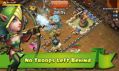 Screenshots of the Castle Clash for Android tablet, phone.