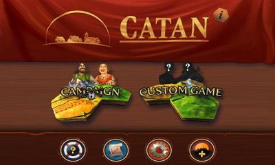 Screenshots of the Catan for Android tablet, phone.