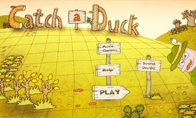 Screenshots of the Catch Duck for Android tablet, phone.
