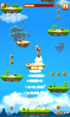 Screenshots of the Caveman jump for Android tablet, phone.