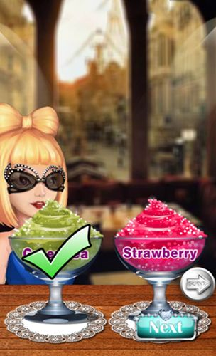 Screenshots of the Celebrity smoothies store for Android tablet, phone.