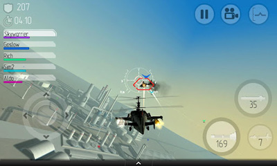 Screenshots of the C.H.A.O.S for Android tablet, phone.