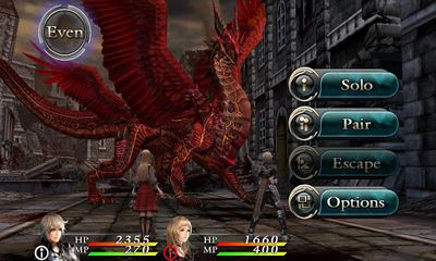 Screenshots of the Chaos Rings 2 for Android tablet, phone.