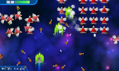 Screenshots of the Chicken Invaders 3 for Android tablet, phone.