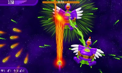 Screenshots of the Chicken Invaders 4 for Android tablet, phone.
