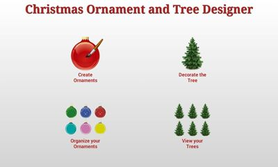 Screenshots of the Christmas Ornaments and Tree for Android tablet, phone.